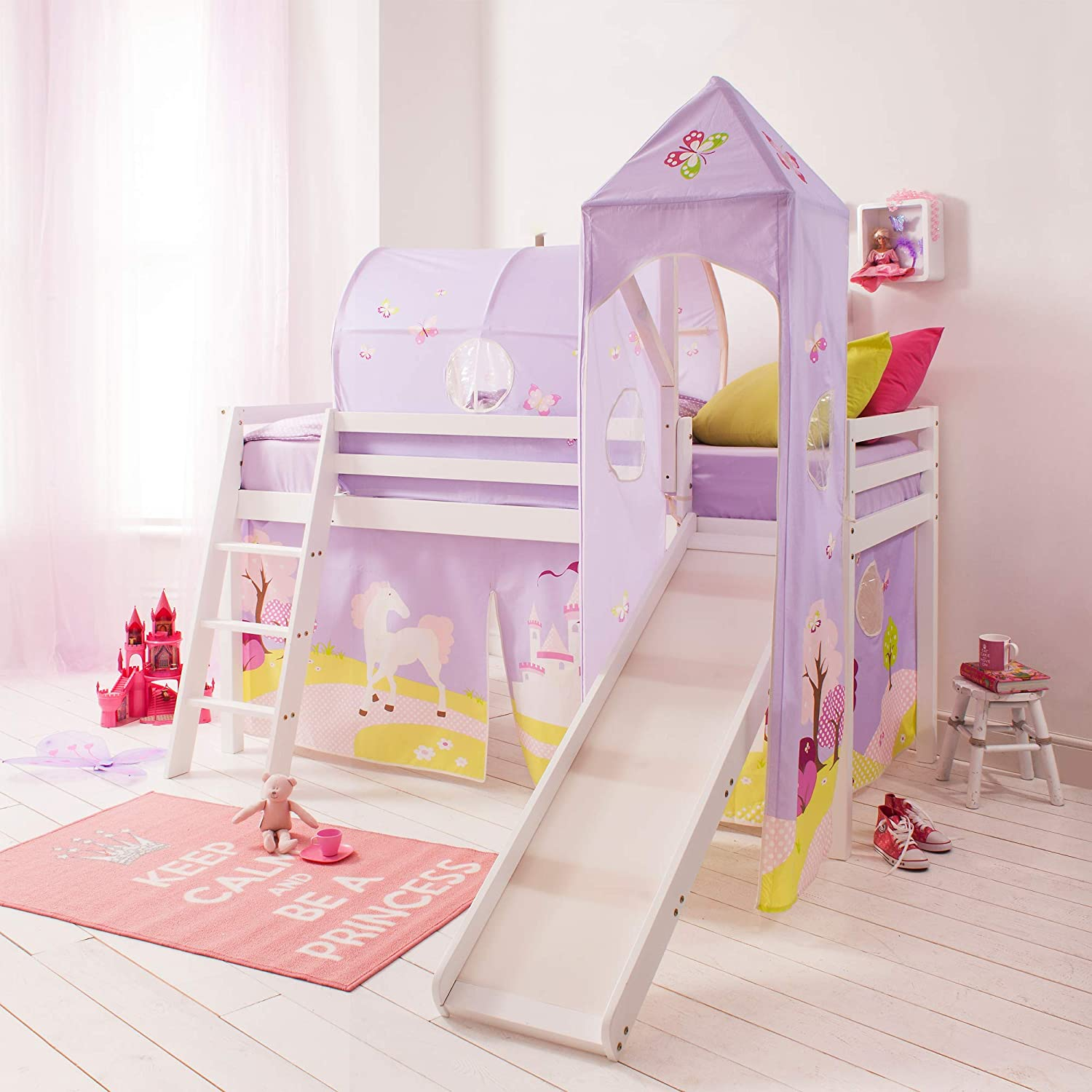 4a2b5b1f7f68 Noa and Nani - Midsleeper Cabin Bed with Slide and Princess ...