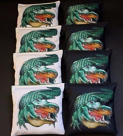 ALL WEATHER University of Florida Gators Cornhole Bean Bags 8 Resin Filled Bags