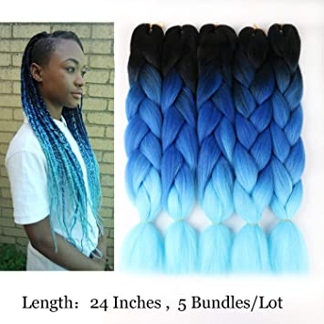 Amazon Com Vckovcko Ombre Jumbo Braid Hair 3 Tone Jumbo Braiding