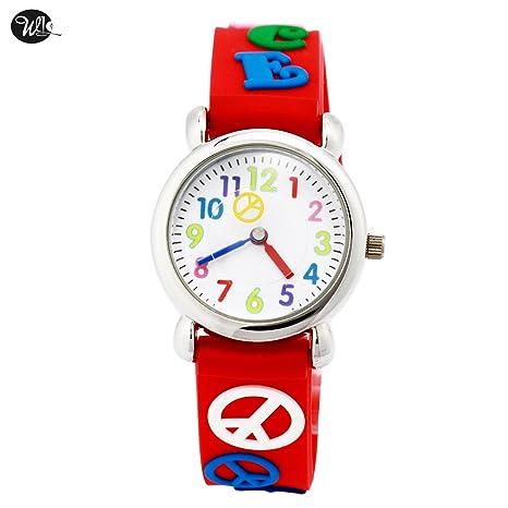 Aijun impermeable relojes 3d Cute dibujos animados reloj de correa de silicona reloj de pulsera digital
