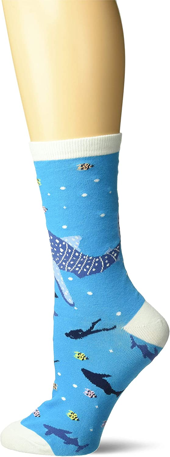 K. Bell Women's Playful Sealife Novelty Fashion Crew Socks