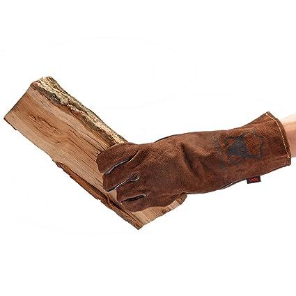 Chimenea Guantes, guantes para barbacoa, horno guante, calor guante protector piel auténtica Color