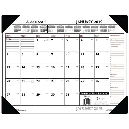 Amazon Com At A Glance 2019 Desk Calendar Desk Pad 21 3 4 X 17