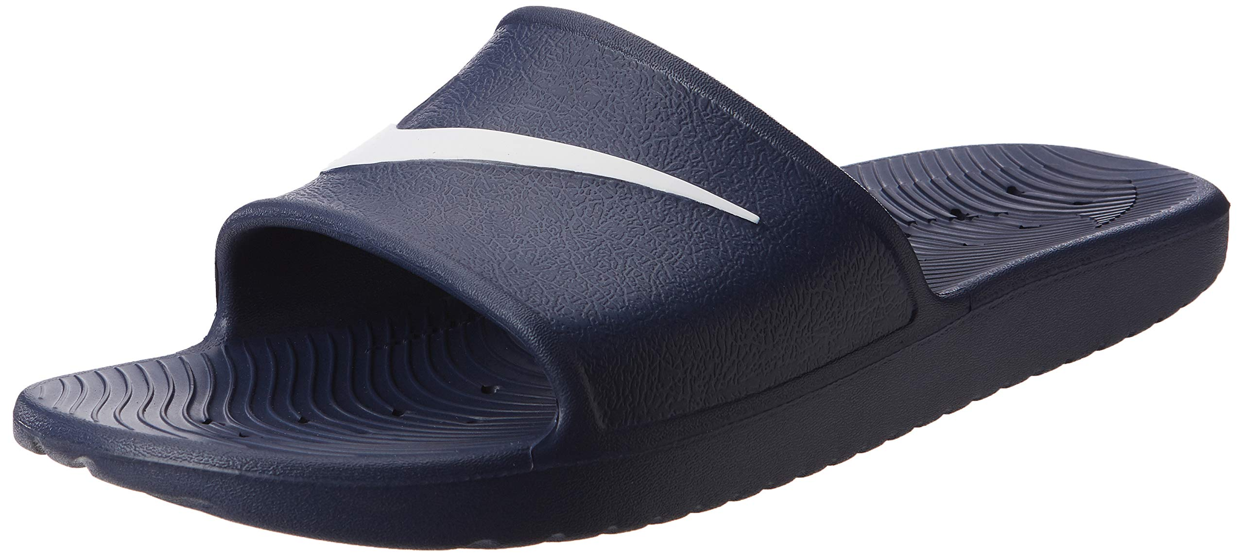 315bedf948 Galleon - Nike Men's Kawa Shower Slide Sandals Midnight Navy/White Size 12  M US
