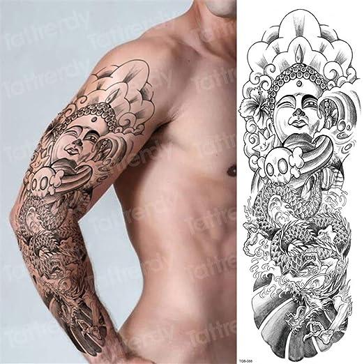 tzxdbh 3pcs, Tatuajes temporales de la Manga del Brazo de Robot de ...