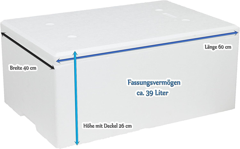 Poliestireno Caja 39 L, con Tapa 60 x 40 x 26 cm: Amazon.es ...