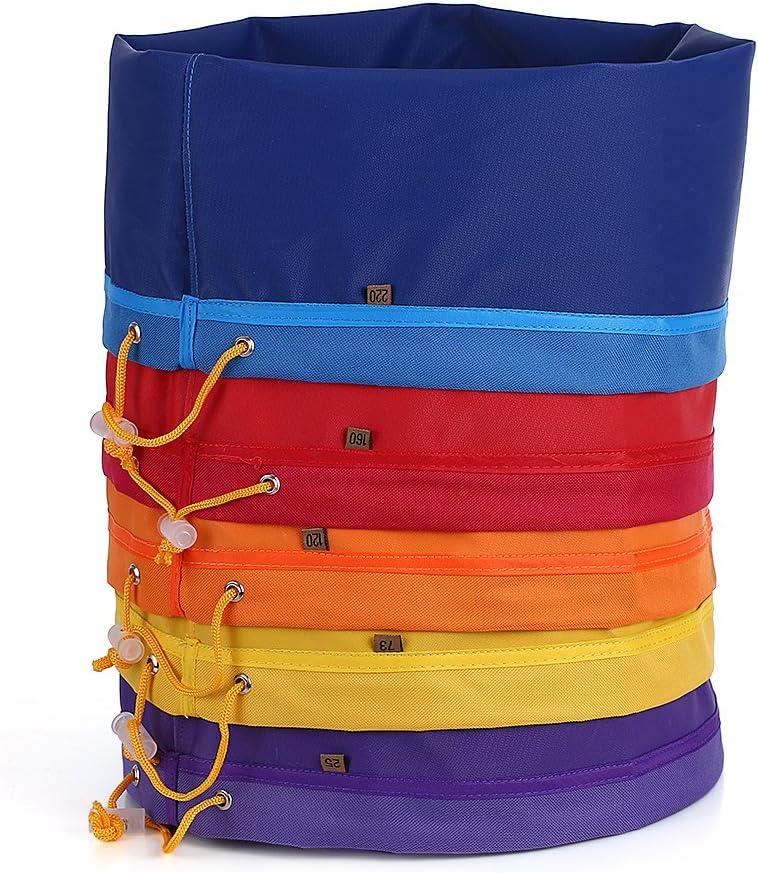 Blusea 5pcs / Set 5 Galones Nylon Bubble Hash Bag Bolsa de Extracción de Esencia de Hierbas Bolso de Micrones Bolsas de Cordón Bolsas de Extracción