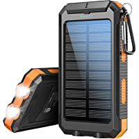 Solar Charger 20100mAh,Xiyihoo Portable Charger Solar Power Bank with Dual USB Output Waterproof External Battery Pack…