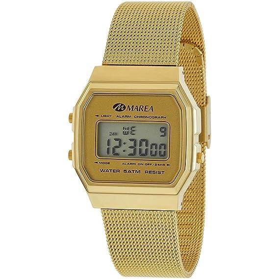 4134dd76243c Reloj Marea Mujer B35313 7 Digital Retro Dorado  Amazon.es  Relojes