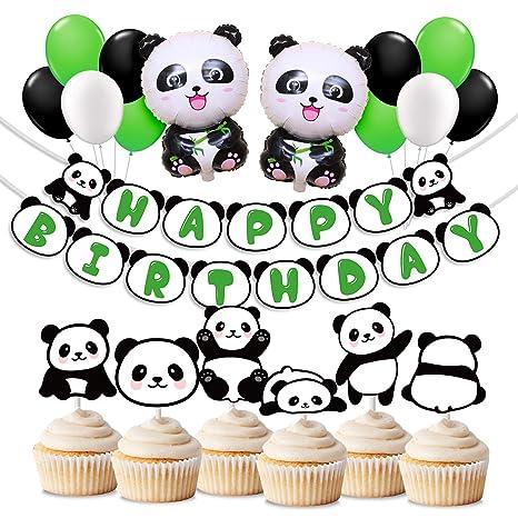 Kreatwow Decoraciones De La Fiesta Panda Incluyen Globos Panda Mylar