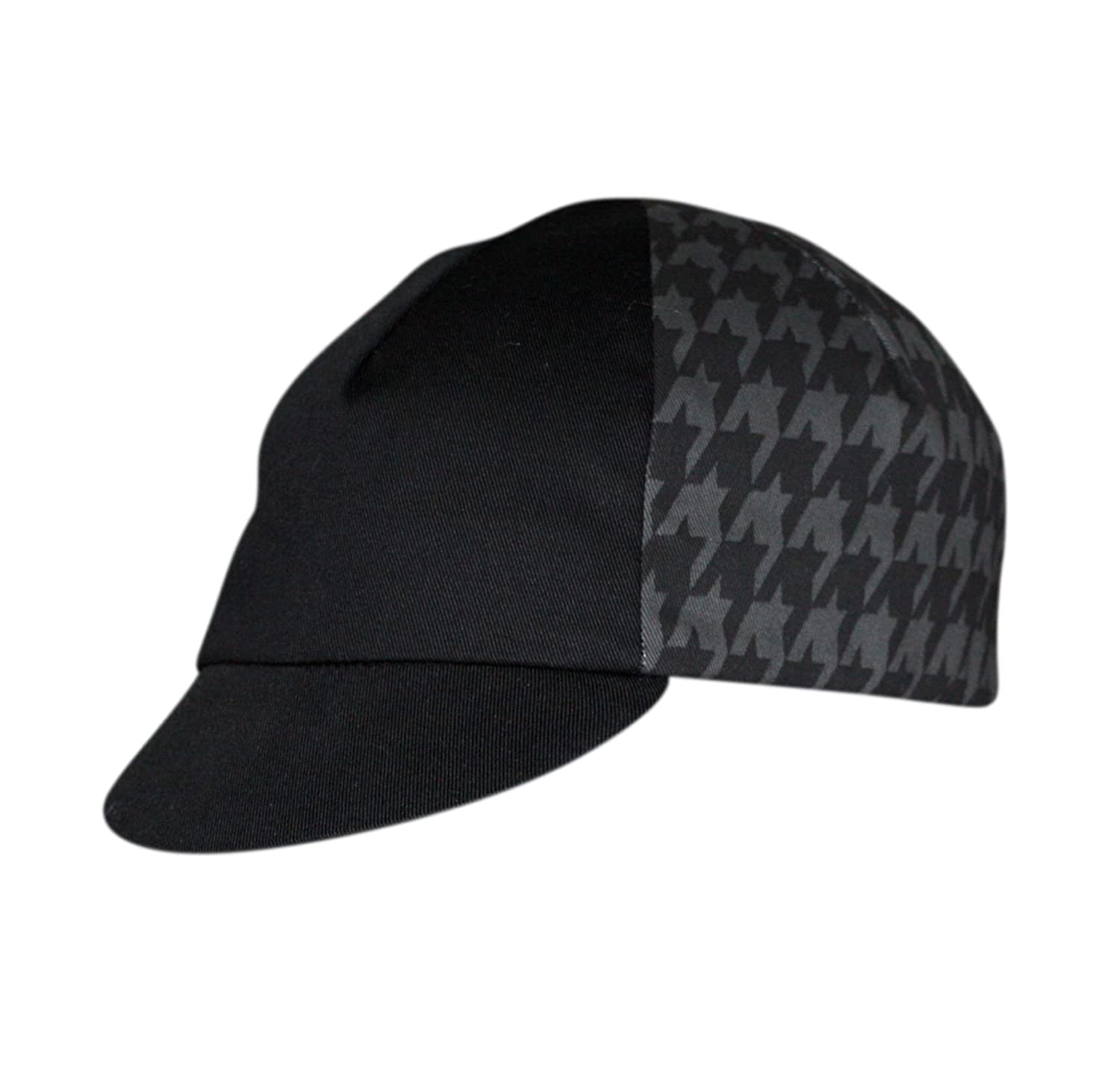 Pace Houndstooth Cycling Cap, Black/Gray 14-0251