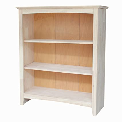 International Concepts Shaker Bookcase 36 Inch Unfinished