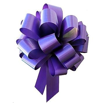 amazon com large purple ribbon pull bows 9 wide set of 6