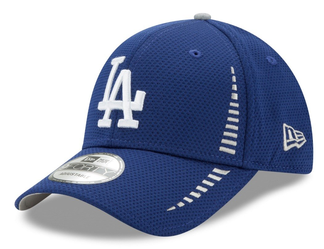 9412dea39df34a Amazon.com : New Era Los Angeles Dodgers 9Forty MLB Speed Performance  Adjustable Hat - Blue : Sports & Outdoors