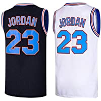 Men's 23 Space Jam Basketball Jersey Movie Shirts Hip Hop Party Shirt Stitched Size S-XXXL White/Black Color