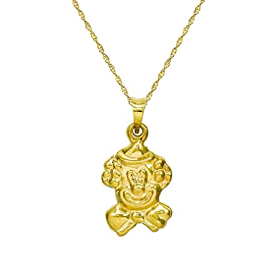Amazon 14k yellow gold clown pendant necklace 16 inches 14k yellow gold clown pendant necklace 16 inches singapore chain aloadofball Gallery