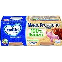 Mellin Omogeneizzato di Manzo Prosciutto con Verdure 100% Naturale – 24 Vasetti da 80 gr