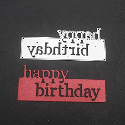 Happy Birthday Candle Thanks Words Metal Cutting Dies Scrapbooking Stencil Craft