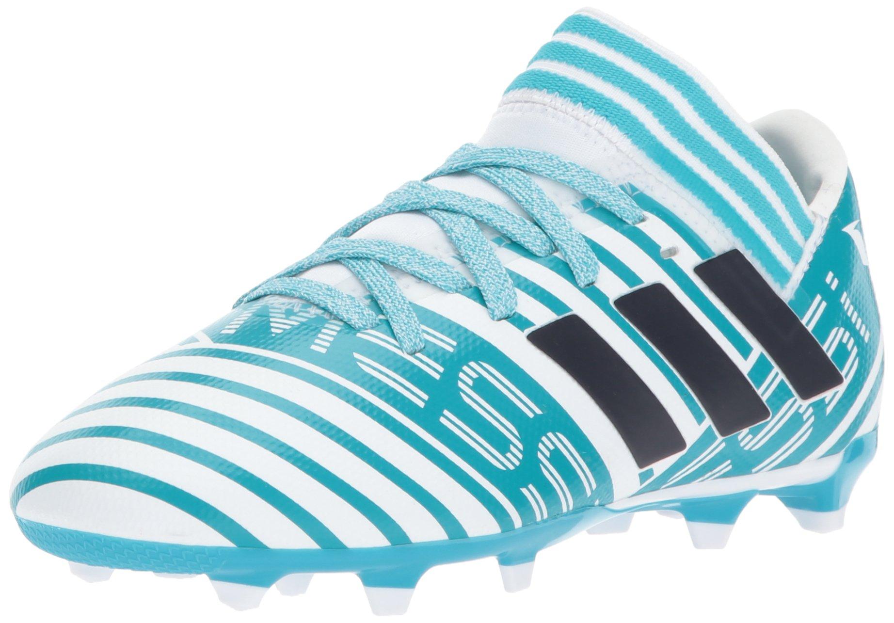 sale retailer 3d002 25551 Galleon - Adidas Kids  Nemeziz Messi 17.3 Fg J Soccer-Shoes, White Legend  Ink Energy Blue, 2.5 Big Kid