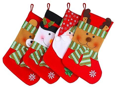 4pcs año nuevo Navidad bolsas de regalo encantador Santa ...