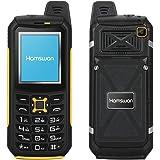Impermeabile IP68 Cellulare, HAMSWAN S2 Sbloccato Quadband robusto telefono cellulare IP68 impermeabile esterno robusto mobile phone per gli sport esterni/anziani/operai (giallo)