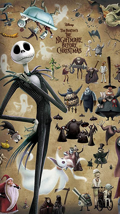 ディズニー ナイトメアー・ビフォア・クリスマス ジャックと奇妙な住人たち XFVGA(480×854)壁紙画像