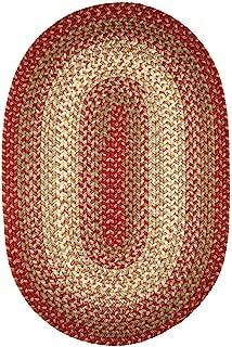 product image for Rhody Rug Ellsworth Indoor/Outdoor Reversible Braided Rug by (3' x 5') Brown/Beige