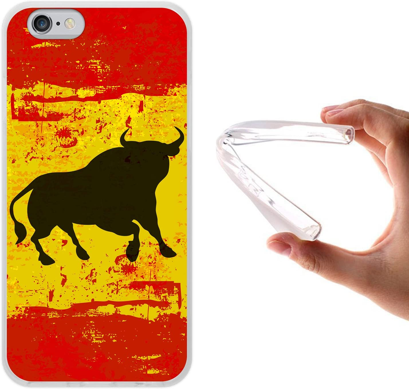 WoowCase Funda para iPhone 6 6S, [iPhone 6 6S ] Silicona Gel ...