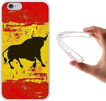WoowCase Funda para iPhone 6 6S, [iPhone 6 6S ] Silicona Gel Flexible Bandera España y Toro, Carcasa Case TPU Silicona: Amazon.es: Electrónica