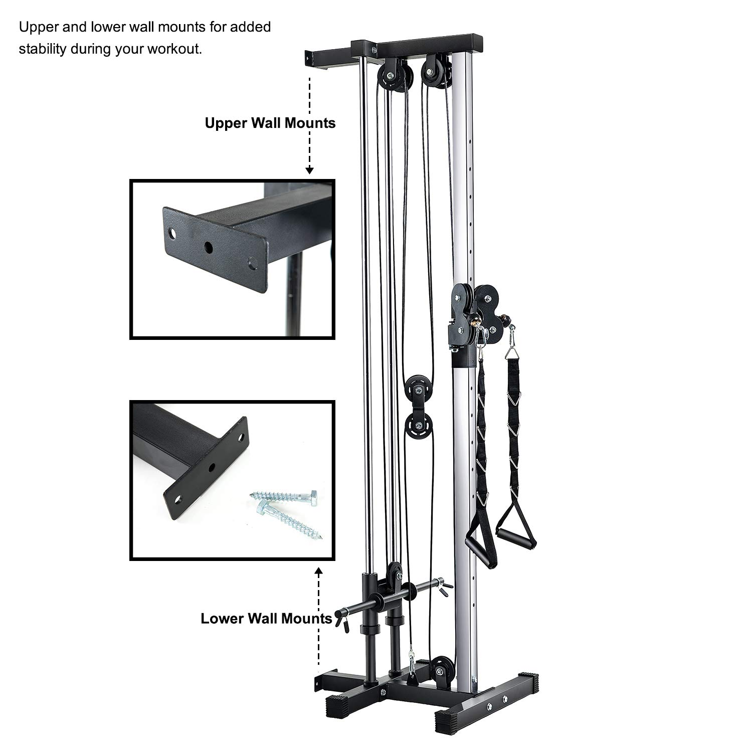 Buy Vanswe Wall Mount Cable Station 18 Positions Adjustable Dual Pulleys Cable Crossover Machine Online At Low Prices In India Amazon In