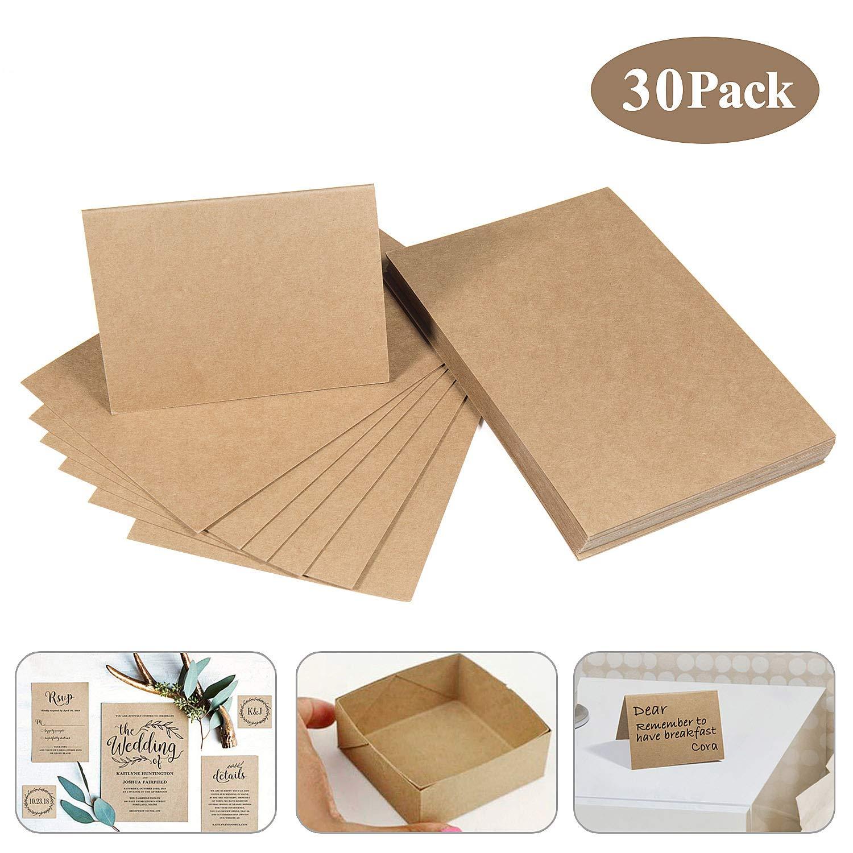 Papel de estraza cartón de kraft, MOOKLIN 30 hojas de cartulina 15 x 9.8cm