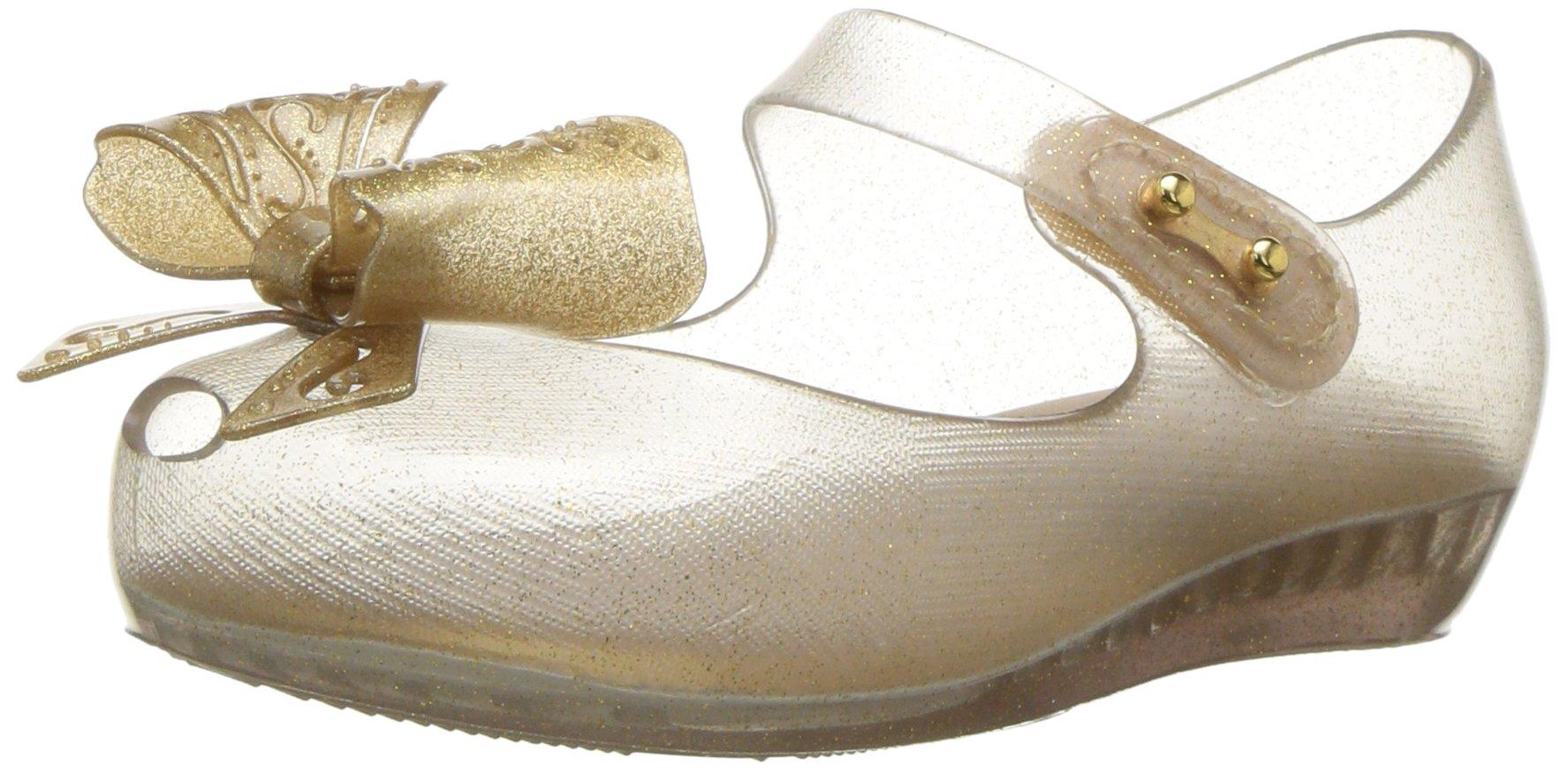 Mini Melissa Girls' Mini Ultragirl IX Mary Jane Flat, Glass Gold, 10 Medium US Toddler