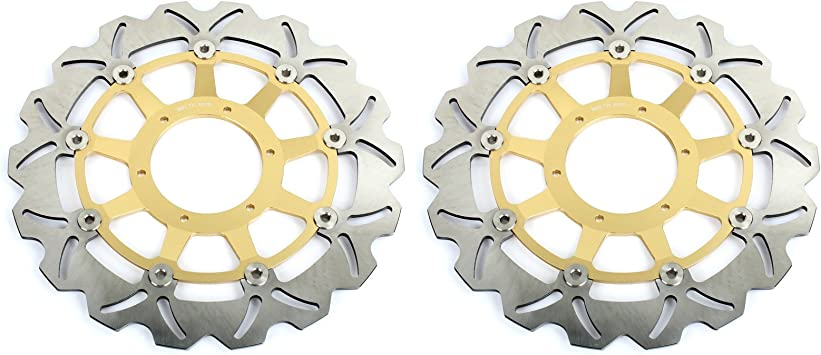 TARAZON 1 Pair Front Brake Discs Rotors and Pads for CBR 929 RR Fireblade CBR929RR 2000 2001// CBR 954 RR Fireblade CBR954RR 2002 2003