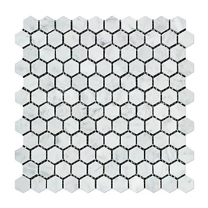Amazon.com: Teja mosaico hexagonal de mármol de ...