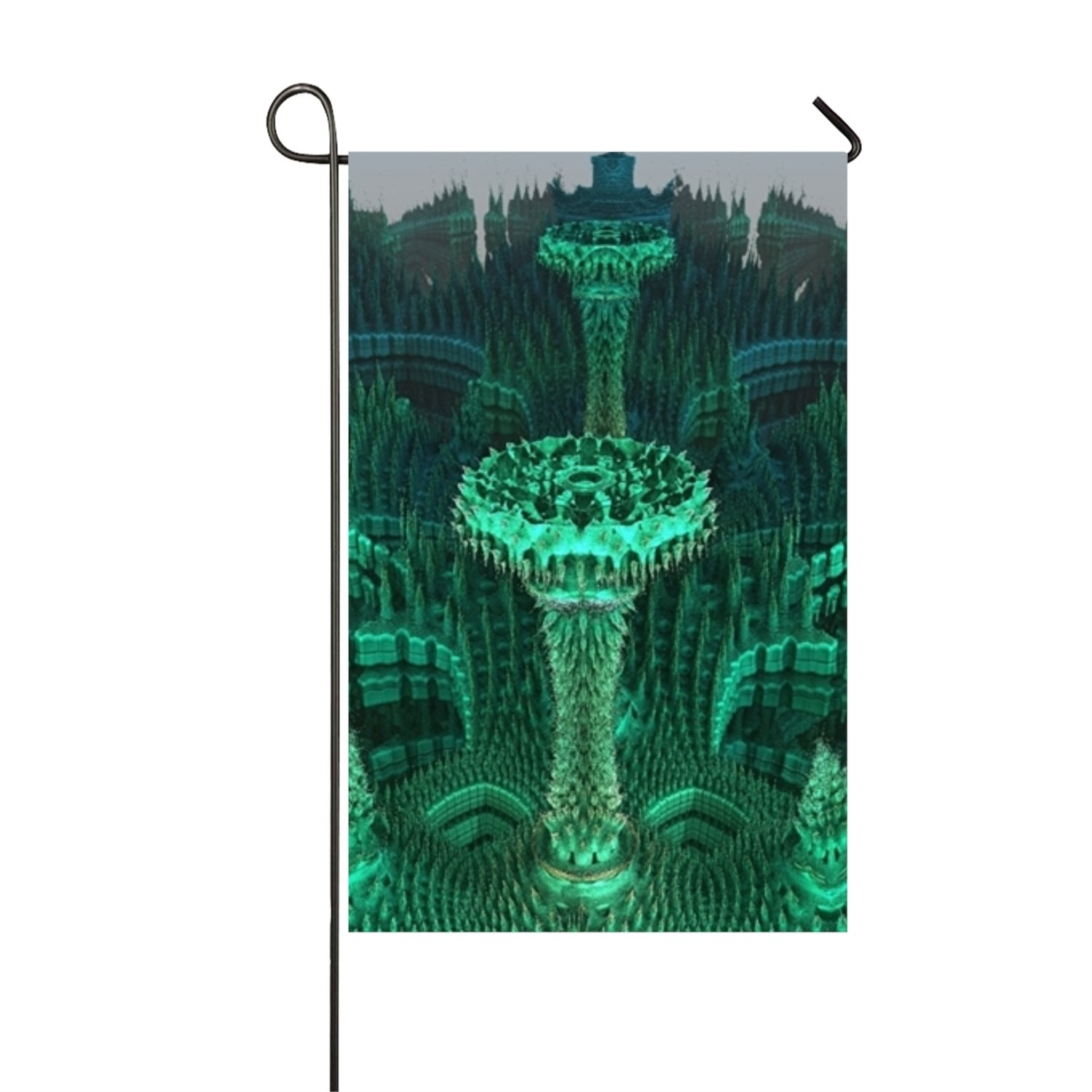 Nydia Morrison Green Fountain Personalized Garden Flag with Double Side For Outdoor Decoration