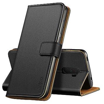 Anjoo Compatible para Funda Xiaomi Pocophone F1,Carcasa Pocophone F1 de Cuero Suave de la PU con Tapa Protectora de la Caso Trasera para Xiaomi ...