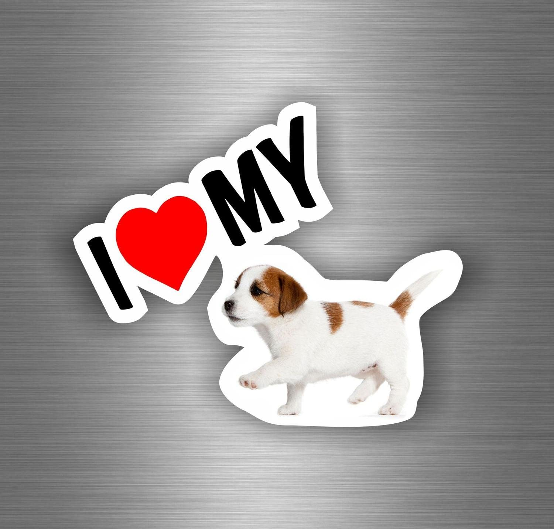 Akachafactory Autocollant Sticker Voiture Moto i Love My Pitbull Chien Tuning r3