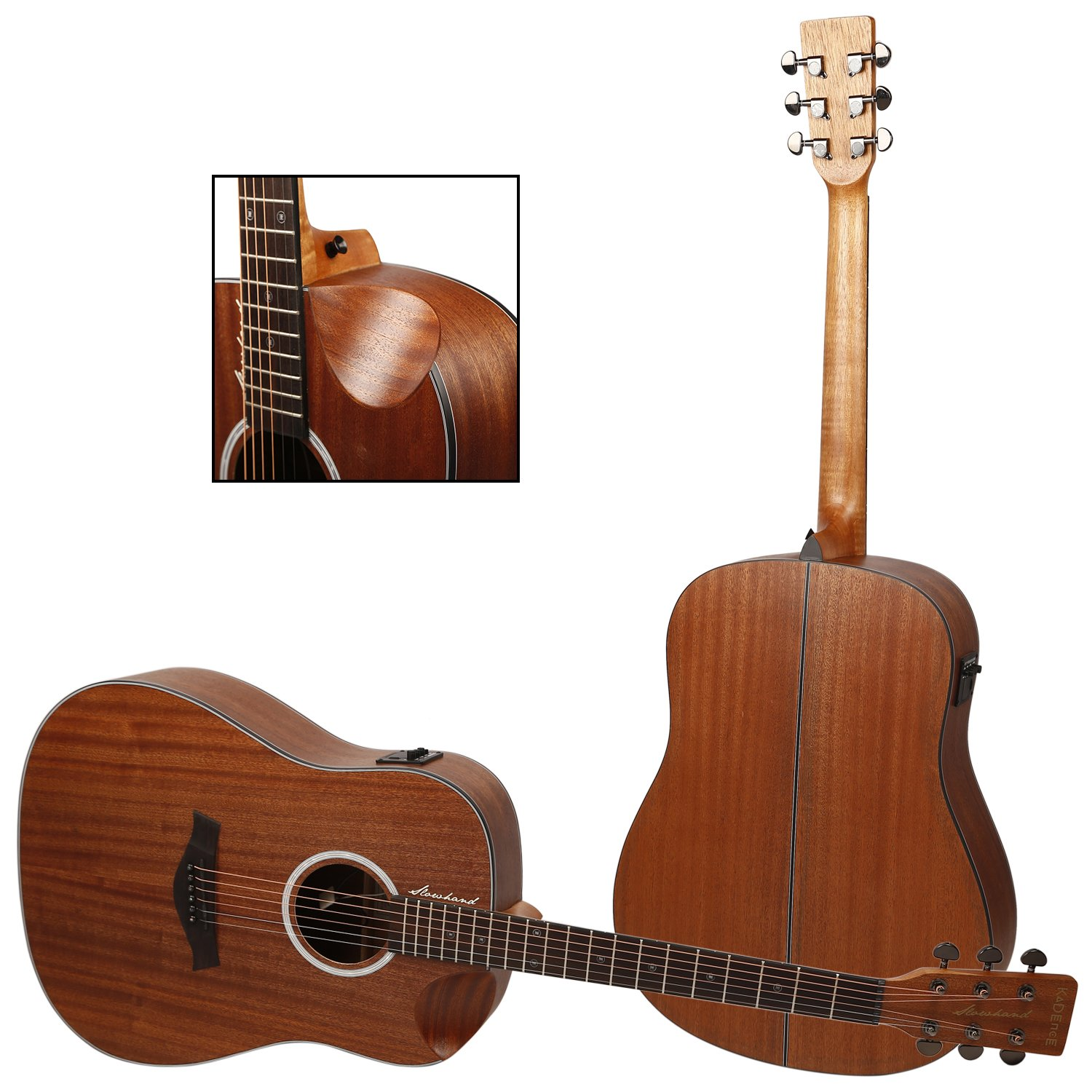 kadence slowhand series premium acoustic guitar mahagony top