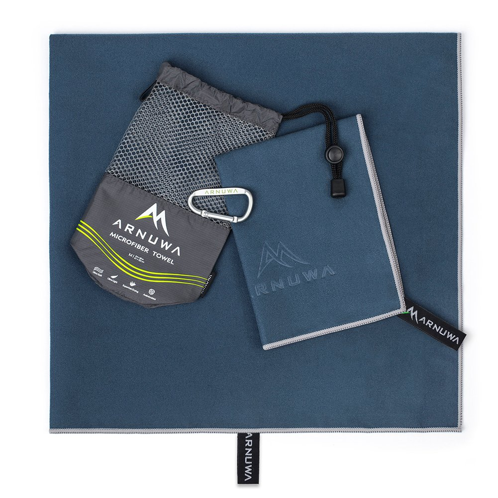 dcfa138193 Arnuwa Microfiber Travel Towel Set - Quick Dry Ultra Absorbent Compact  Antibacterial - Great for Camping larger image