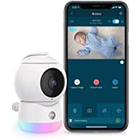Motorola Peekaboo WiFi 1080p Video Baby Monitor - Multi-Color Night Light, Two-Way Audio, Infrared Night Vision – 360…