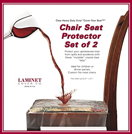 LAMINET Vinyl Chair Protectors, Clear, 26X253/4 Inch, Fits Chairs Up