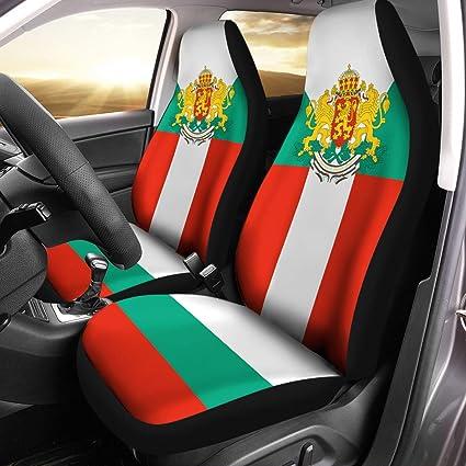 VTH Global Croatian Coat of Arms Croatia Flag Car Seat Covers Set of 2 Size Universal Fit