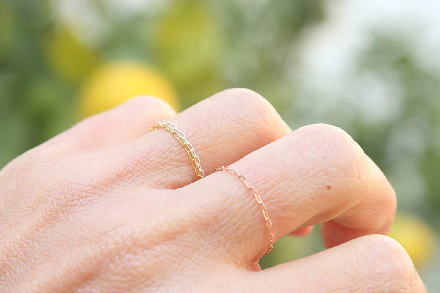 Stacking ring Minimalist jewelry Stackable ring Engagement ring 14k Solid Gold Dainty Gold ring Delicate ring Minimalist ring