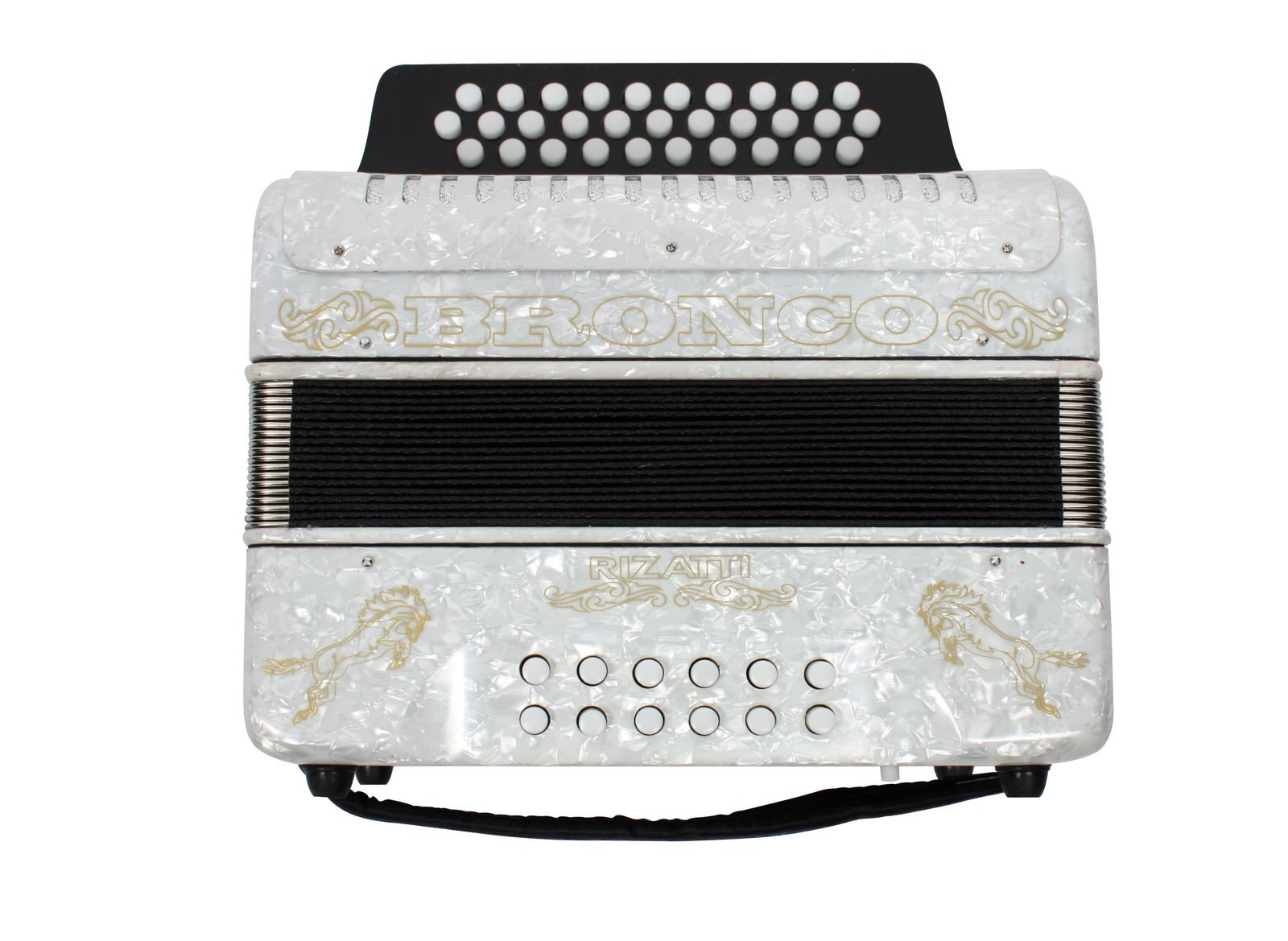 Rizatti Bronco RB31FW Diatonic Accordion - White - Key F/Bb/Eb by RIZATTI (Image #3)
