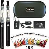 DIPSE e Dampfer / e Zigarette Starterset - 2x eGo-T mit 1100mAh Evod, CE4 inklusive 10 x 1,5ml Liquid ohne Nikotin