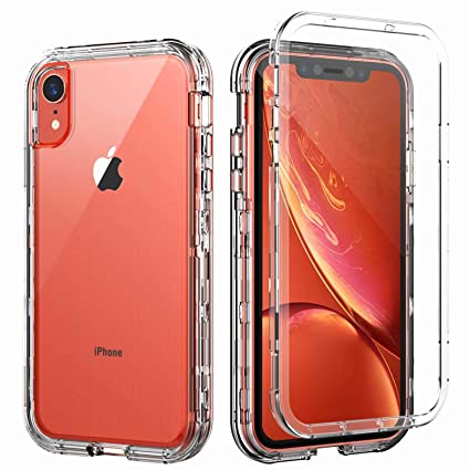 negozio online ae17b 10af7 SKYLMW Case for iPhone XR,Shockproof Three Layer Protection Hard Plastic &  Soft TPU Sturdy Armor Protective High Impact Resistant Cover for iPhone XR  ...