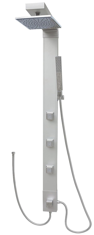 Alu columna de ducha con conexión a manguera 039: Amazon.es ...