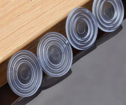 Clear Glass Table Top Bumpers,Soft Material,To Control The Movement Of Glass  Table