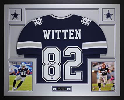lowest price 10bd3 704fa Amazon.com: Jason Witten Autographed Blue Cowboys Jersey ...