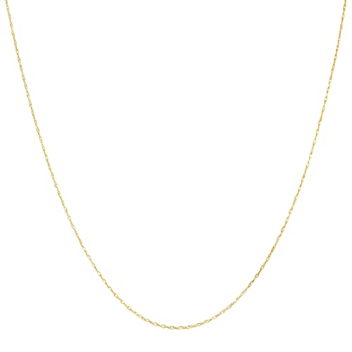 Solid 14k Yellow Gold 0.7mm Thin Rope Chain (14, 16, 18, 20, 22, 24 or 30 inch)